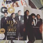 I choose the men's magazine instead of women's one wVOGUEよりGQを手に取る🏻Men of the year 2015 興味深かった。#雑誌 #GQ #葉加瀬太郎氏かー
