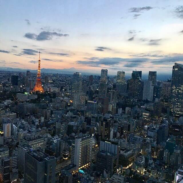 東京タワー遠くに富士山日の入りの記録w笑#景色 #東京タワー #富士山 #夜景