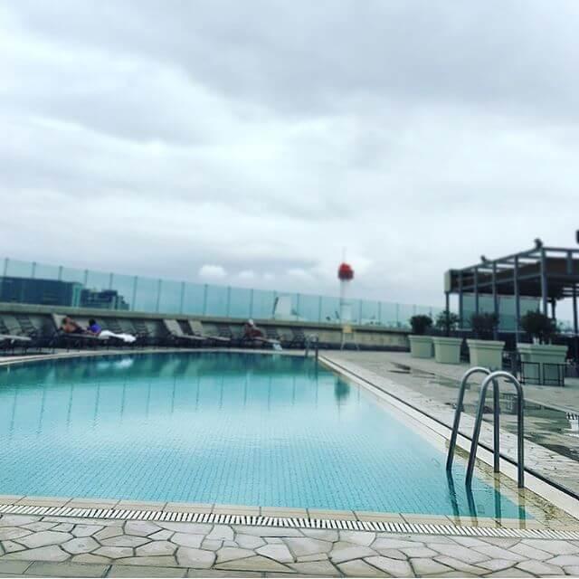 水に触れて・・・水泳を頑張る・・再開しようかとどの運動よりも泳ぐのが好き♀️#水泳 #プール #フィットネス#ホテルプール #グランドニッコー東京台場
