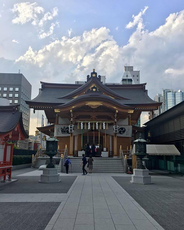 水天宮駅に降り立ったので水天宮に寄ってみた⛩物凄い都会の神社ですた!!!!友人の安産を祈願🤲️#水天宮 #神社 #中央区 #Tokyo
